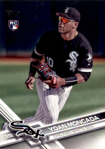Photo of 2017 Topps Update #US200A Yoan Moncada Rookie Card