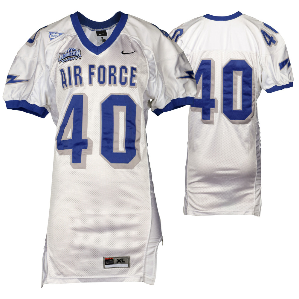 Air Force Falcons Game-Used #40 White Football Jersey from the 2002-06 Seasons - Size - XL