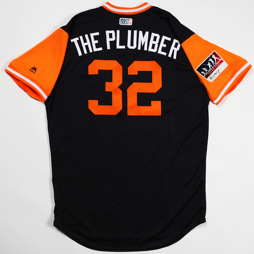 "Photo of Michael ""The Plumber"" Fulmer Detroit Tigers Game-Used 2018 Players' Weekend Jersey"