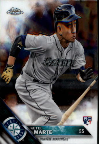 Photo of 2016 Topps Chrome #121 Ketel Marte Rookie Card