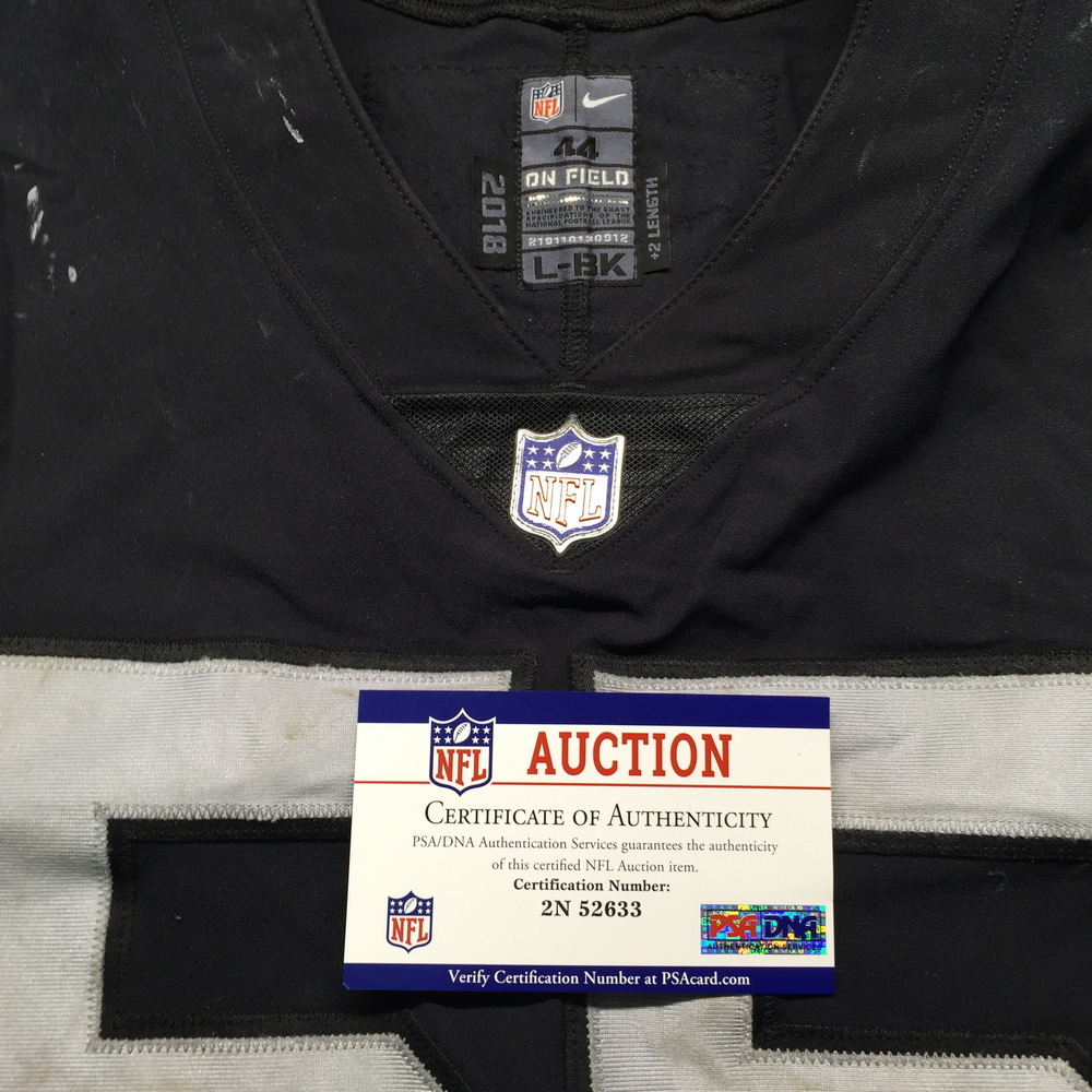 new products 79a9b 8dc80 NFL Auction | NFL - London Games Raiders Marquel Lee Game ...
