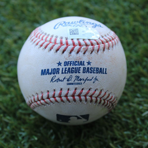 Game-Used Baseball: Christian Vazquez 4th Career Triple and 101st & 102nd Career RBIs (BOS @ KC - 6/6/19)