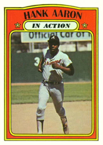 Photo of 1972 Topps #300 Hank Aaron InAction