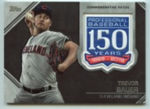 Photo of 2019 Topps Update 150th Anniversary Manufactured Patches #AMPTB Trevor Bauer