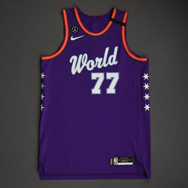 Image of Luka Doncic - 2020 NBA Rising Stars - Team World - Game-Worn 1st Half Jersey