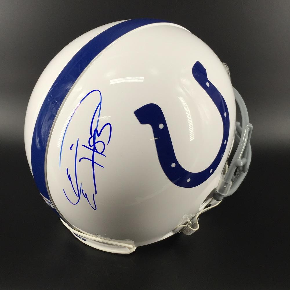 NFL - Colts Eric Ebron Signed Proline Helmet