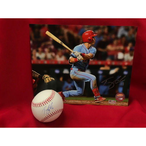 Photo of Tommy Edman Autographed Baseball and Photo