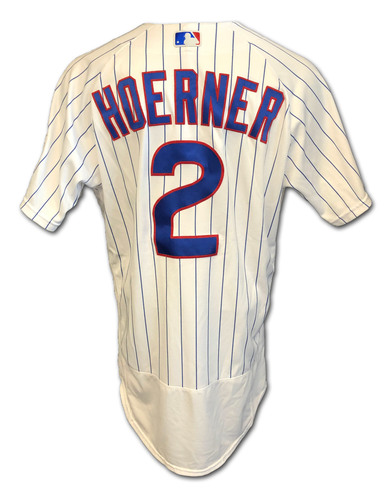 Photo of Nico Hoerner Game-Used Jersey -- Cardinals vs. Cubs -- 9/7/2020 -- Size 44