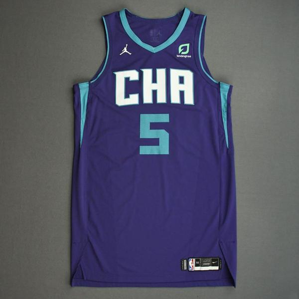 Image of Nicolas Batum - Charlotte Hornets - Game-Worn Statement Edition Jersey - 2019-20 NBA Season