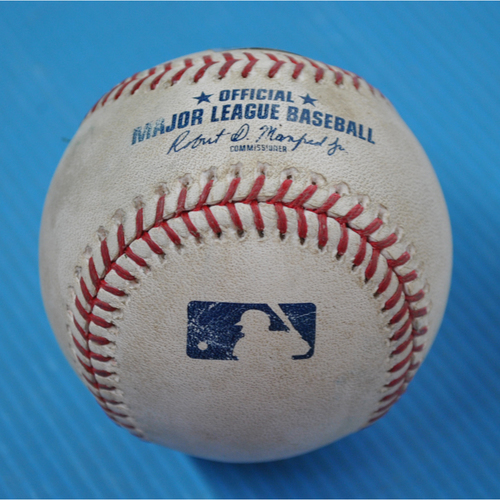 Photo of Game-Used Baseball - 2020 ALCS - Houston Astros vs. Tampa Bay Rays - Game 1 - Pitcher: Blake Snell, Batter: Kyle Tucker (Flyout to RF) - Top 2