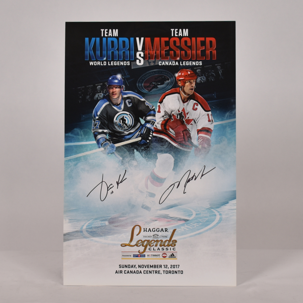Mark Messier and Jari Kurri 2017 Legends Classic Signed Poster