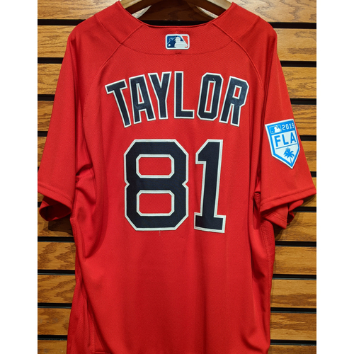 Photo of Josh Taylor #81 Team Issued 2019 Red Spring Training Jersey
