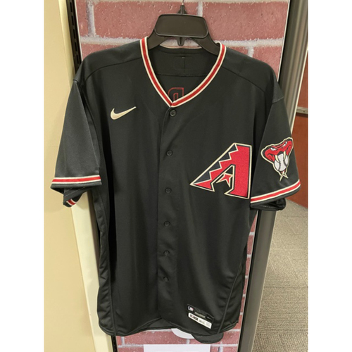 Photo of Archie Bradley 2020 Team-Issued Black Alternate Jersey (Size 44)