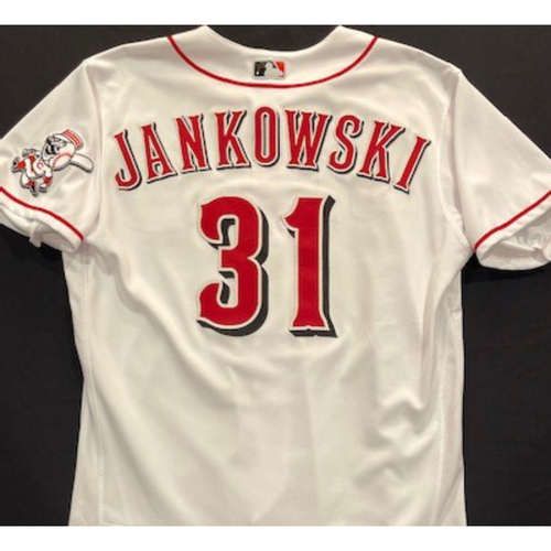 Photo of Travis Jankowski -- 2020 Home White Jersey -- Team Issued -- Size 46