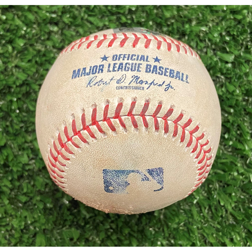 Photo of Game Used Baseball - Pitcher: Luke Jackson, Batter: Kolten Wong (Strike, Ball, Fly Out) and Willy Adames (2 Strikes) - 10/11/21 - NLDS Game 3