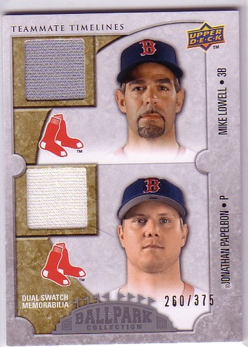 Photo of 2009 Upper Deck Ballpark Collection #156 Jonathan Papelbon/Mike Lowell/375