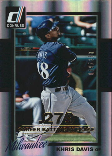 Photo of 2014 Donruss Stat Line Career #312 Khris Davis/278