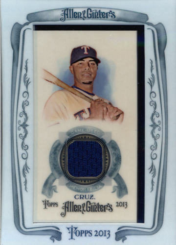 Photo of 2013 Topps Allen and Ginter Framed Mini Relics #NC Nelson Cruz