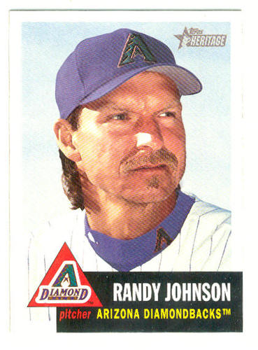 Photo of 2002 Topps Heritage #10 Randy Johnson