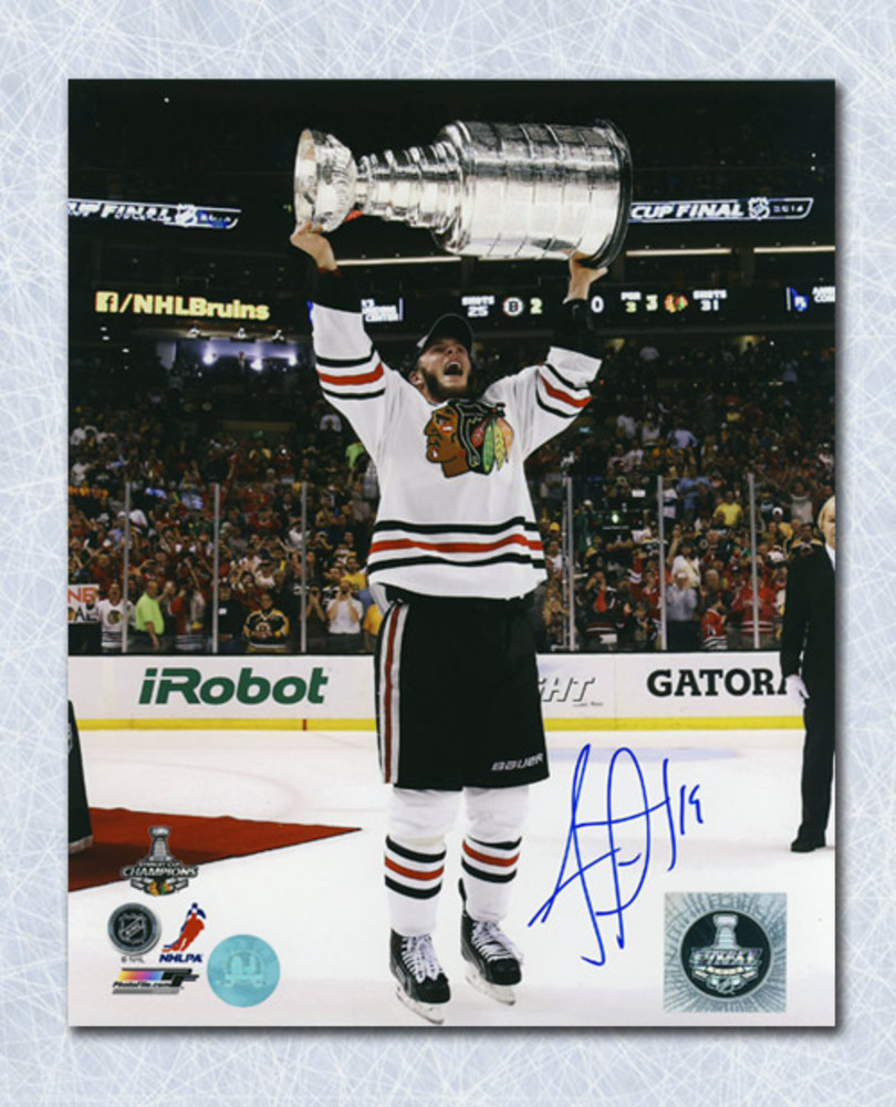 Jonathan Toews Chicago Blackhawks Autographed 2013 Stanley Cup 8x10 Photo