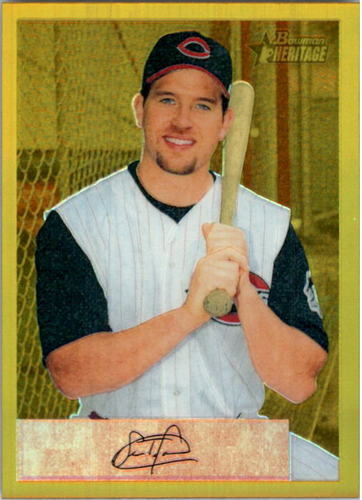 Photo of 2002 Bowman Heritage Gold Chrome Refractors #10BHC Sean Casey