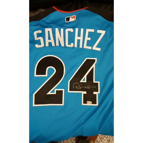 Gary Sanchez 2017 Major League Baseball Workout Day/Home Run Derby Autographed Jersey