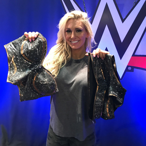 Photo of Charlotte Flair WORN & SIGNED Ring Attire (SmackDown - 09/26/17)