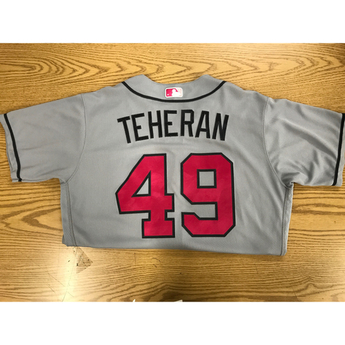 Photo of Julio Teheran Game-Used Mother's Day Jersey