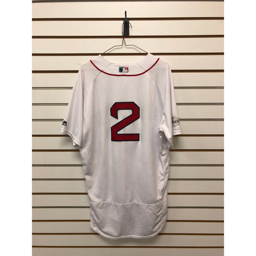 Photo of Xander Bogaerts Game-Used ALDS Game 3 October 8, 2017 Home Jersey