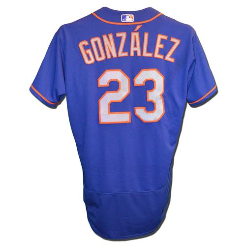 Photo of Adrian Gonzalez #23 - Game Used Blue Alt. Road Jersey - Gonzalez Goes 3-4, 2 HR's, 2 RBI, 3 Runs Scored - Mets vs. Reds - 5/7/18