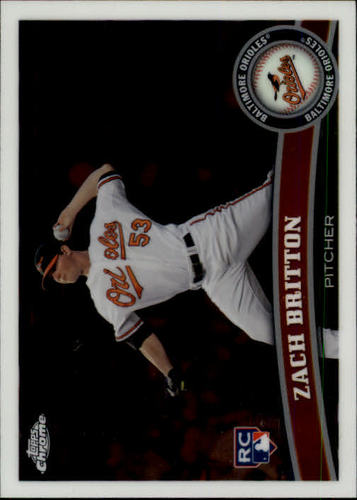 Photo of 2011 Topps Chrome #216 Zach Britton Rookie Card
