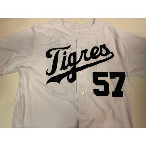 Game-Used Fiesta Tigres Jersey: Artie Lewicki