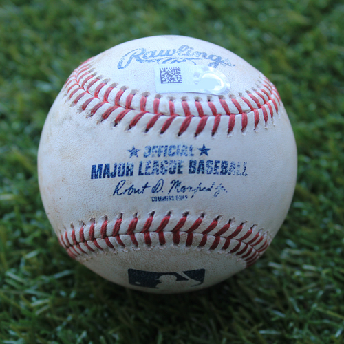 Photo of Game-Used Baseball: Xander Bogaerts 901st Career Hit (BOS @ KC - 6/6/19)