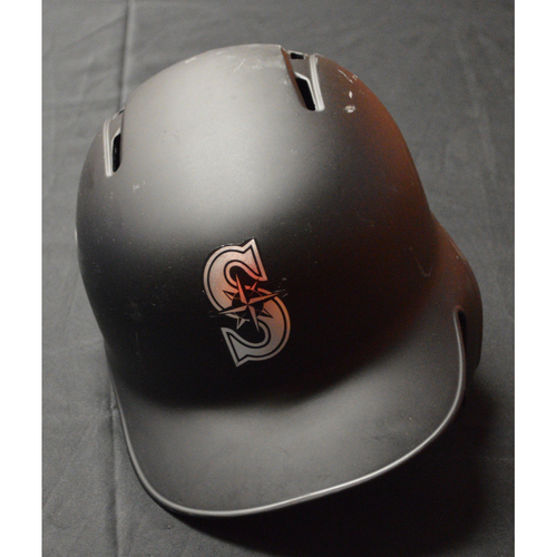 "Photo of Tom ""STASHU"" Murphy Seattle Mariners Game-Used 2019 Players' Weekend Helmet"