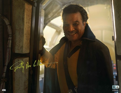 Billy Dee Williams As Lando Calrissian 11X14 AUTOGRAPHED IN 'Yellow' INK PHOTO