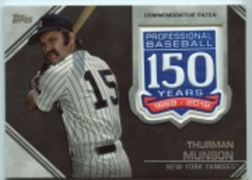 Photo of 2019 Topps Update 150th Anniversary Manufactured Patches #AMPTM Thurman Munson