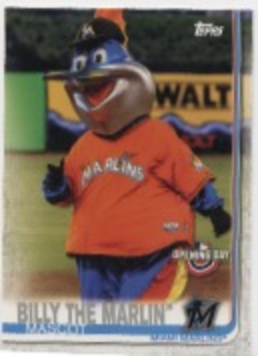 Photo of 2019 Topps Opening Day Mascots #M18 Billy the Marlin