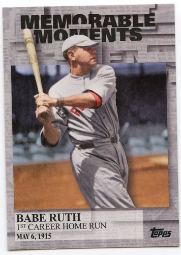 Photo of 2017 Topps Memorable Moments #MM3 Babe Ruth