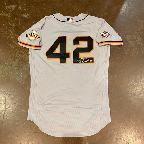 Photo of 2020 Jackie Robinson Day Jersey - Team Issued & Autographed  - #1 Mauricio Dubon - Size 44
