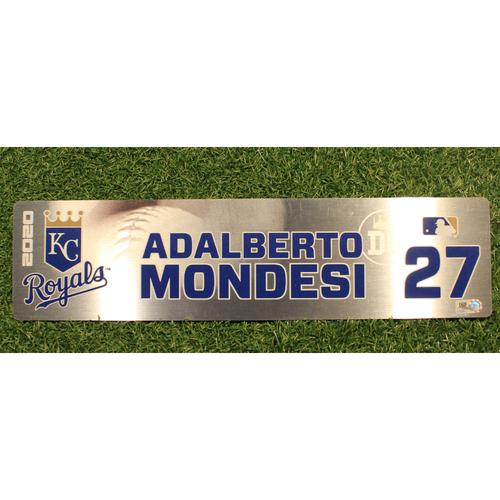 Photo of Game-Used Locker Tag: Adalberto Modesi #27 (DET @ KC 9/24/20)