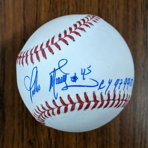 Photo of Pedro Martinez Personalized Autographed Baseball