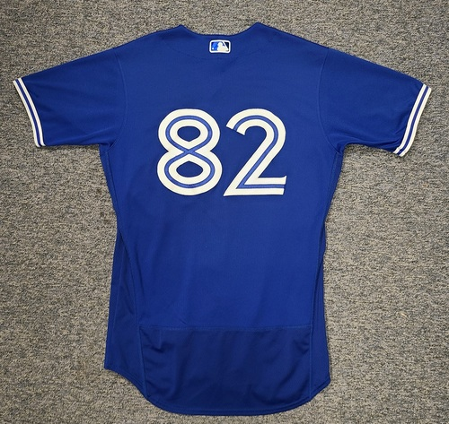 Photo of Authenticated Game Used Spring Training Jersey: #82 Forrest Wall (Mar 28, 2021: 0-for-2). Size 42.