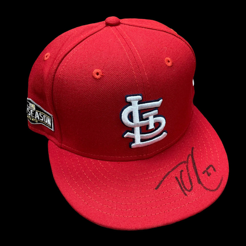 Photo of Tyler O'Neill Autographed Team Issued Home Cap w/ 2020 Postseason Patch (Size 7 1/4)