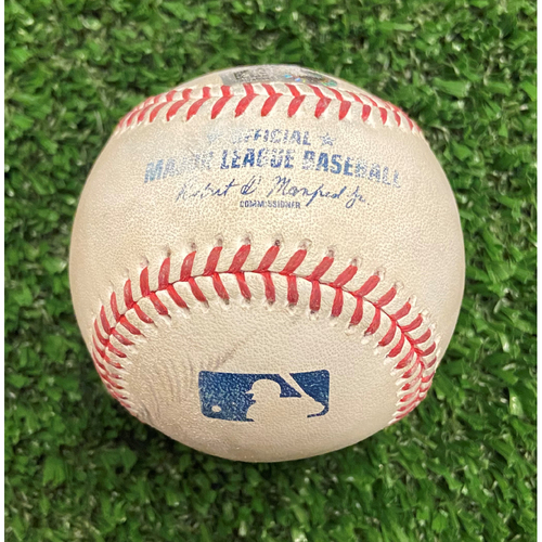 Photo of Game Used Baseball - Pitcher: Jake Cousins, Batter: Ozzie Albies (Strike, Ball, Foul) - 10/11/21 - NLDS Game 3