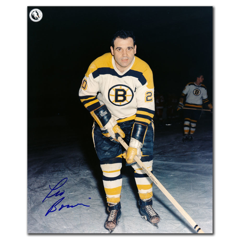 Leo Boivin Boston Bruins Autographed 8x10