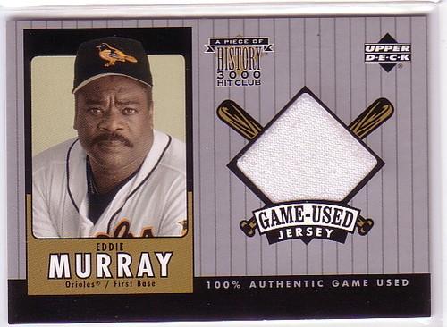 Photo of 2000 Upper Deck A Piece of History 3000 Club #EMJ E.Murray Jersey/350