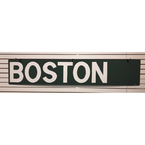 Photo of October 23, 2018 World Series Game 1 Game-Used Boston AL East Standings Sign