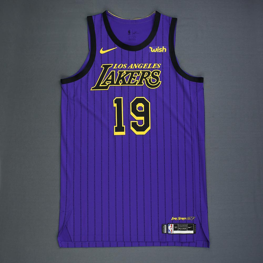 online store aa8ef 40471 Jonathan Williams - Los Angeles Lakers - Game-Issued City ...