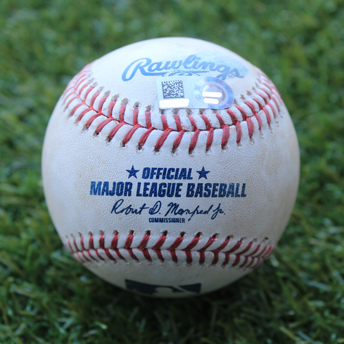 Photo of Game-Used Baseball: Ryan Brasier Pitched Strike Out to Billy Hamilton (BOS @ KC - 6/6/19)