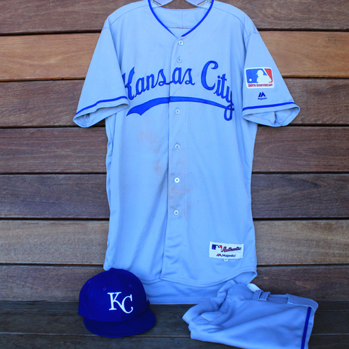 Photo of Game-Used 1969 Throwback Jersey, Pants and Cap: Adalberto Mondesi 194th Career Hit (Jersey Size 42 - KC @ WSH  - 7/6/19)